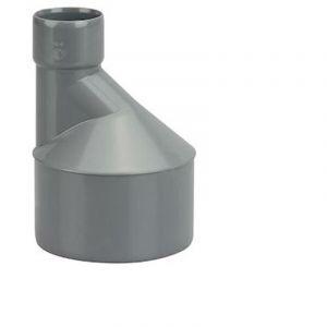 Réduction excentrée en PVC - Diamètres 100x40 - WAVIN