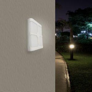 Applique Murale Blanche Rectangulaire IP44 LED 4 Faisceaux 18W - Blanc Neutre 4000K - 5500K - SILAMP
