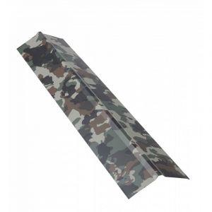 Faîtière double pan 1 m pour plaque nervurée acier laqué - Coloris - Camouflage, Longueur - 1 m - MCCOVER