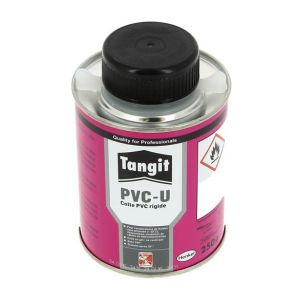 Colle gel PVC rigide TANGIT eau non potable+pinceau Pot 250g