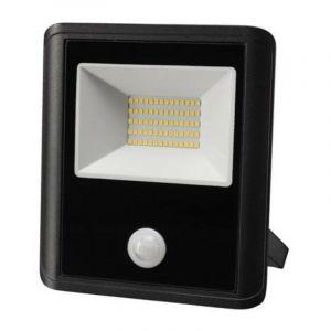 Projecteur led d'extérieur - 50 w, blanc neutre - noir - capteur pir - PEREL