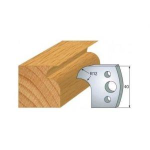 005 : jeu de 2 fers 40 mm congé et quart de rond 12 mm pour porte outils 40 et 50 mm - LUXOUTILS