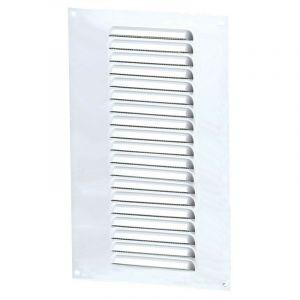 Grille aération rectangle 150x300mm 81cm2 - Alu blanc + anti-insecte - Winflex - WINFLEX VENTILATION