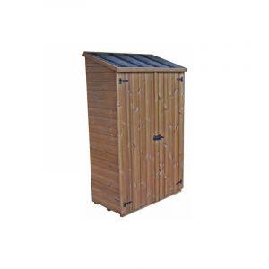 Abri mural multiusages en bois massif traité - panneaux 19 mm - surface utile : 0,64 m2 - HABRITA