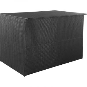 Boîte de rangement de jardin Noir 150x100x100 cm Résine tressée - VIDAXL