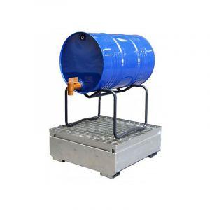 C. Support de soutirage pour fûts métal ou plastique - 3 fûts 60 litres - MANUTENTION DE FUTS