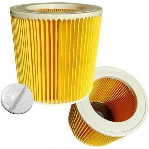 vhbw® 2x Set Filtre à cartouche de rechange comme Kärcher 6.414-552.0 pour Kärcher aspirateur à sec et mouillé, aspirateur multifonctions