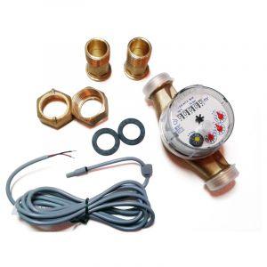 Compteur d'eau chaude avec sortie impulsion (1 imp. / 0.25 litre). - GIOANOLA