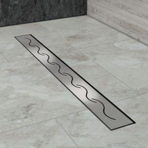 Modèle en S, (60cm) Inox, Siphon de canal de douche évacuation d'eau SIRHONA