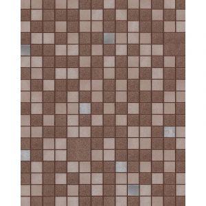 Papier peint pour cuisine et bain EDEM 1033-17 papier peint vinyle gaufré avec des figures géométriques et des accents métalliques brun beige argent 5,33 m2