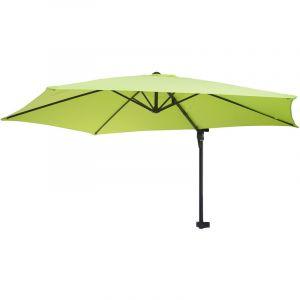 Parasol mural Casoria, parasol déporté pour le balcon, 3m, inclinable ~ vert limon - HHG