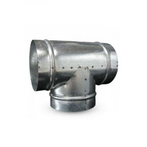 Raccord T en métal 150mm 90° conduit ventilation - WINFLEX