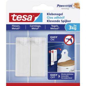 Clou adhésif tesa® tesa 77763-00000-00 blanc 1 paquet(s)