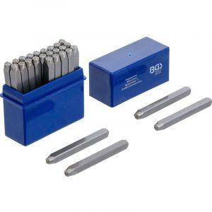 BGS LETTRES A FRAPPER JEU DE 27 LETTRES - choisissezici : 03 mm - BGS TECHNIC