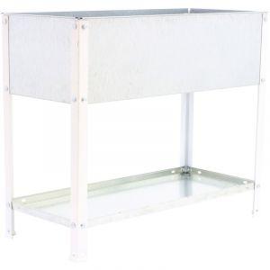 Jardin en métal blanc/galvanisé 85x90x60cm 140 L - SIMONRACK