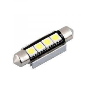 Lampe LED navette 42 mm 12VDC 1W5 blanc froid - OHM-EASY LED LIGHTING