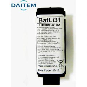 Pile Daitem Batli31 d'origine 3V 1Ah Lithium pour alarme