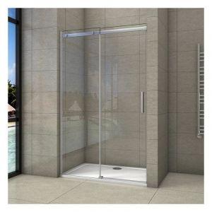 Porte de douche coulissante 120x195cm en 8mm verre anticalcaire porte de douche en niche - AICA SANITAIRE