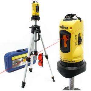Niveau laser rotatif auto-nivelant avec trépied 1,2m pour la mesure des angles et surface - WILTEC