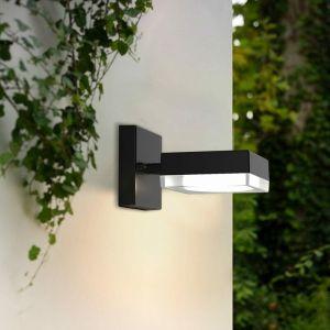 Applique extérieure carrée VENGE Grise anthracite (Douille GX53) 230V