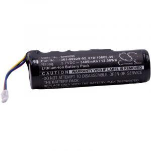 vhbw Li-Ion batterie 3400mAh (3.7V) pour collier de chien entraîneur de chien Garmin Alpha, Alpha 100, DC50, GAA002, GAA003, GAA004, T5, TT10, TT15