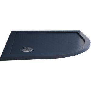 Receveur de douche 80x80x4 cm arrondie acrylique mod. Solid UltraSlim - IDRALITE