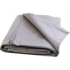 Bâches Direct - Bache 680 g/m² - 4 x 3 - Bache Grise - Baches PVC - Bache exterieur pour une bonne étanchéité - bache imperméable