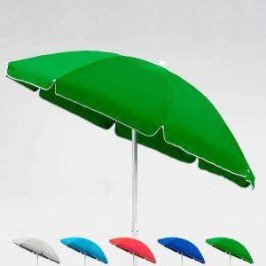 Parasol de plage 2 mètre pour mer et jardin CAPRI   Vert foncé - BEACHLINE