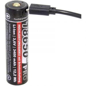 Pile rechargeable spéciale 18650 Pro USB 143895 Li-Ion 3.6 V 3350 mAh 1 pc(s) - Kraftmax
