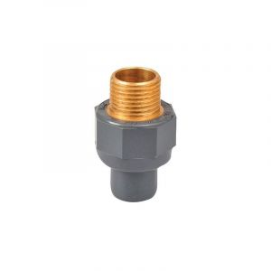Raccord PVC pression droit - Ø 32 / 40 - Filetage laiton M 1' - Girpi