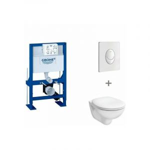 Pack WC suspendu hauteur réduite Grohe | Abattant standard