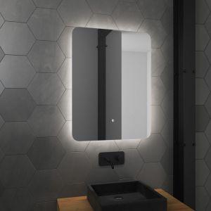 Miroir salle de bain LED auto-éclairant ATMOSPHERE 60x80cm - AURLANE