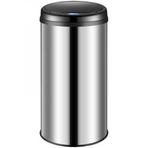 Poubelle automatique 30/40/56 litres avec capteur de mouvement pour cuisine, bureau et atelier Bac a déchets bac a ordures- Blanc noir gris métallisé Agrent - DEUBA