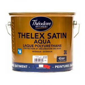 Peinture laque acrylique satinée haut de gamme pour bois, boiseries, meubles et murs : Thelex satin aqua - RAL 1005 Jaune miel - 3L - PEINTURES THEODORE