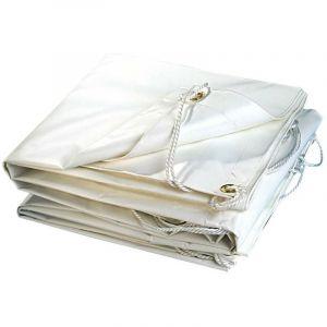 Bâche plastique PVC blanche 300g/m2 2 x 3 - TERRE JARDIN