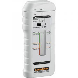 Laserliner Testeur de piles PowerCheck plage de mesure (testeur de pile) 1,2 V, 1,5 V, 3 V, 9 V batterie, pile 083.006A