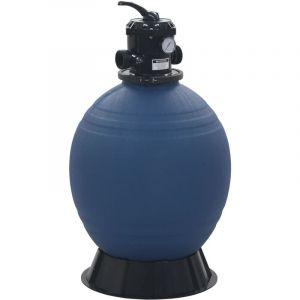 Vidaxl - Filtre à sable pour piscine avec vanne 6 positions Bleu 560 mm