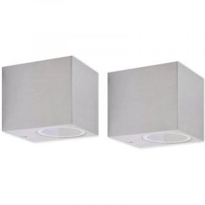 Applique murale d'extérieur en forme de cube 2 pcs - VIDAXL