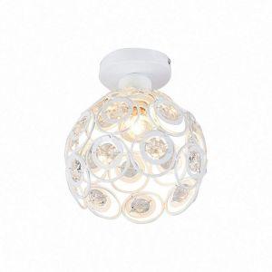 Moderne Plafonnier Industrielle Cristal en Métal, Luminaire l'éclairage Intérieur Exterieur de Plafond Abat-Jour Blanc - Blanc