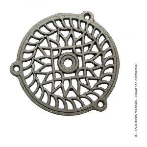 Grille fonte fixe Jardinier Massard - Ronde - Diamètre 160 mm - Gris