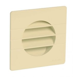 Grille de ventilation extérieures coloris sable Ø 80 mm - spéciale façade - GETM pour tubes PVC et gaines - NICOLL