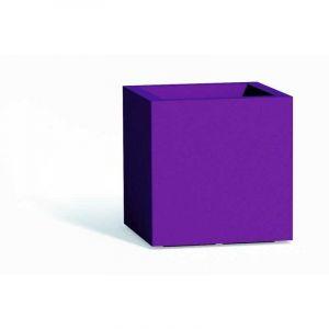 Pot de fleurs Cube en résine Carré H40 Violet 40x40Cm - IDRALITE