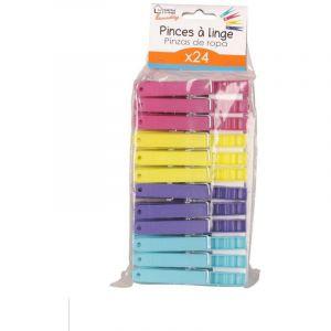 Pinces à linge / Epingle en plastique x 24 pcs - ACHAT UTILE