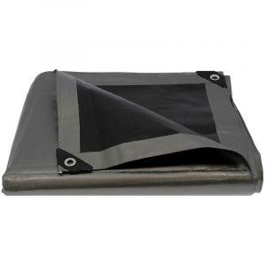 Bâche de protection ultra résistante - 260 g/m² - 5 x 8 mètres - GT MARKET