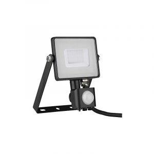 Projecteur led projecteur chip samsung avec capteur de mouvement 30w color light 6400k 2550lm ip65 color black vt-50-s-b 462 - V-TAC