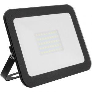 Projecteur LED Extra-Plat Crystal 30W Noir Blanc Neutre 4000K - 4500K - LEDKIA