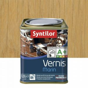 Vernis marin incolore Syntilor: brillant, mat ou satiné (brillant - pot de 0,25 l) - Aspect - Conditionnement : Brillant - Pot de 0,25 L
