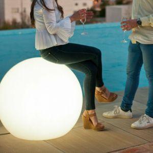 Boule sphère lumineuse 80cm outdoor white light - Moovere
