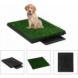 Tapis pour animaux avec plateau et gazon artificiel Vert - VIDAXL