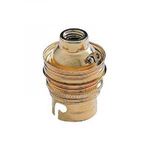 Douille chantier acier laiton B22 baionette double bague pour cable d'alimentation diam M11 EBENOID 043311 - L'EBENOID